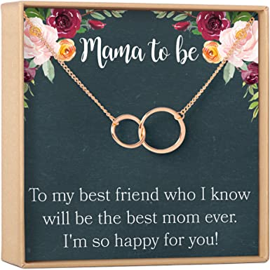 Gift From Daughter Mothers Day Necklace Babyshower Gifts Necklaces For Mom Gold Mama Necklace Stainless Steel Necklace 18K Gold Plated