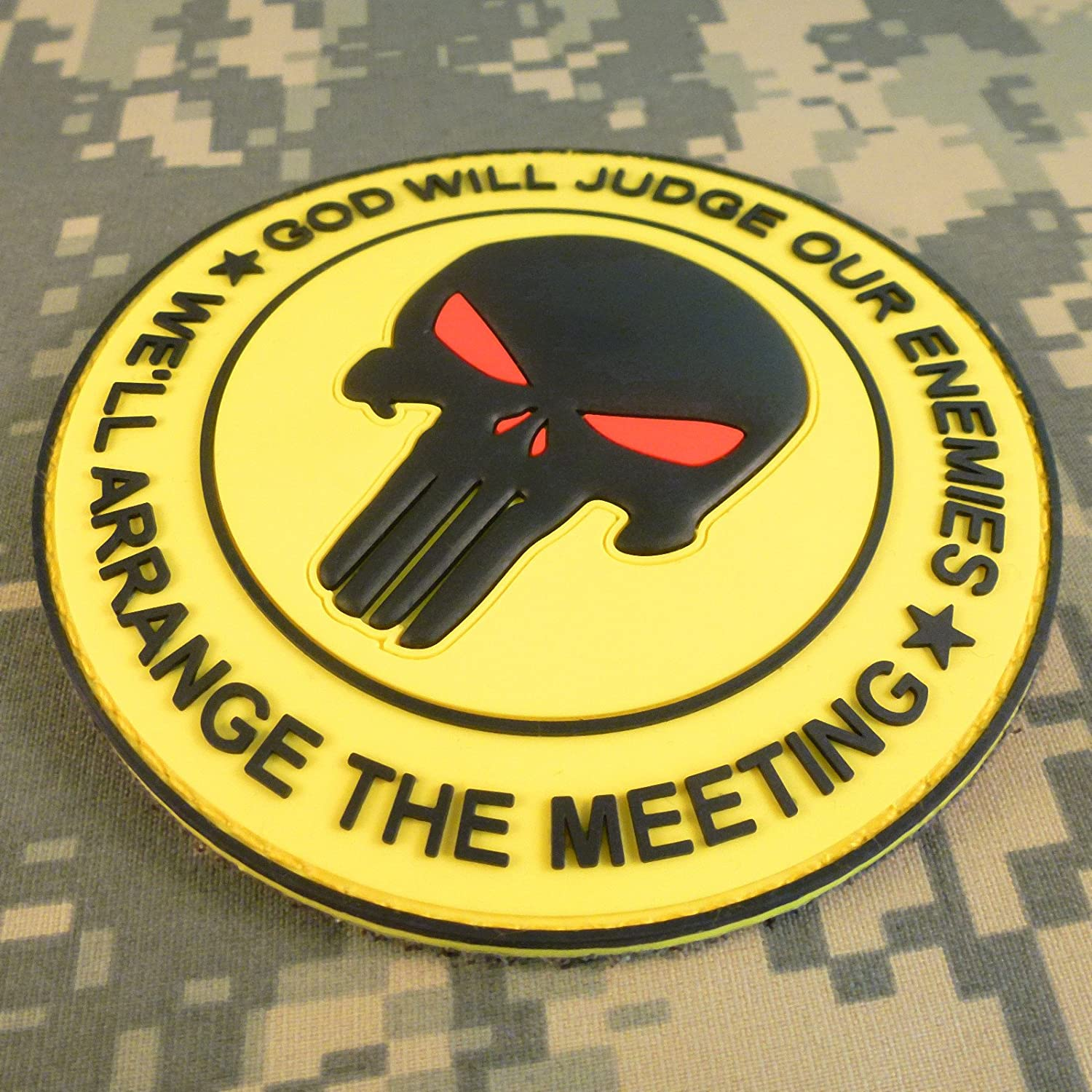 GOD WILL JUDGE OUR ENEMIES Punisher DEVGRU Navy Seals PVC Hook/&Loop Patch