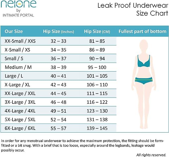 Neione Mujer Bragas Bikinis Menstruales Absorbentes para Regla Periodo Mentruación
