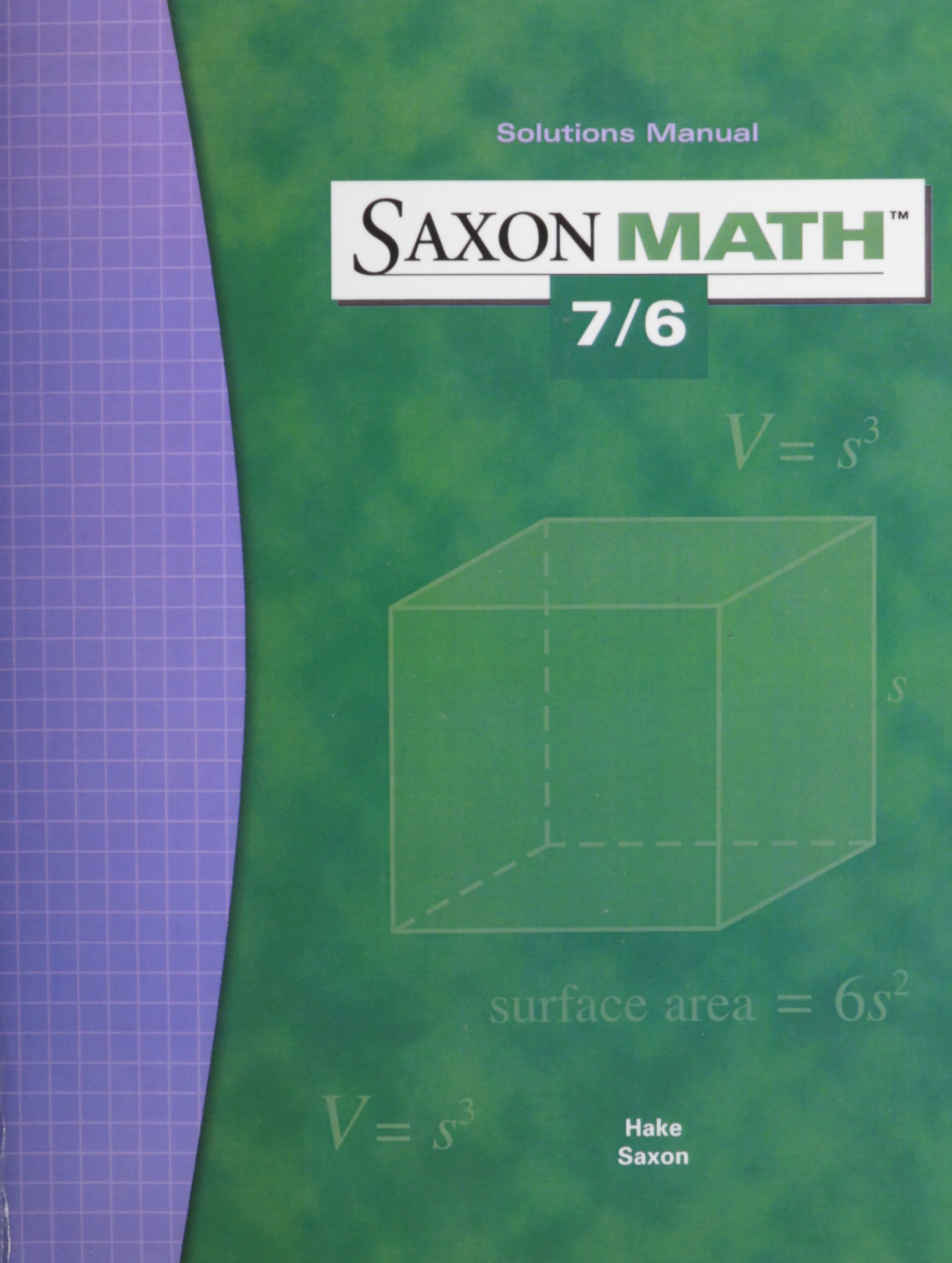 Saxon Math 7/6 Solutions Manual PDF