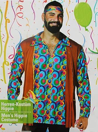 letzte Veröffentlichung toller Rabatt für kosten charm Kaufland Warenhandel GmbH & Co. KG Hippie Kostüm für Herren, Hemd und  Stirnband, 70-er Jahre Kostüm, Größe M