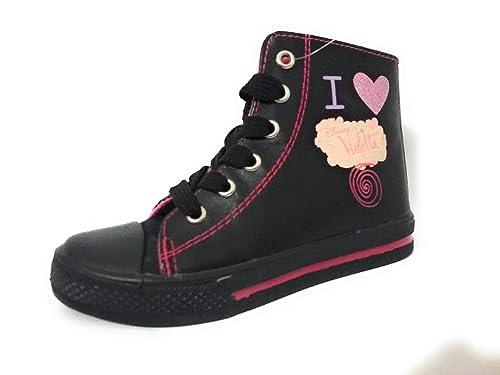 the best attitude dfc6c d69c3 Disney Violetta Sneakers Nere Alte Scarpe da Bambina con ...