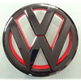 Euro Style Matte Black Red Inlay Front Grille Emblem For VW Golf MK6 1.4T 2.0T GTI TDI by autobizpro