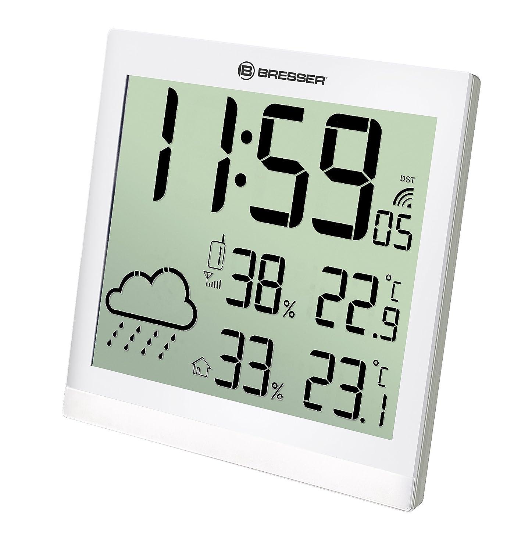 Bresser 7004404GYE000 TEMEOTREND JC Blanco LCD Reloj ...