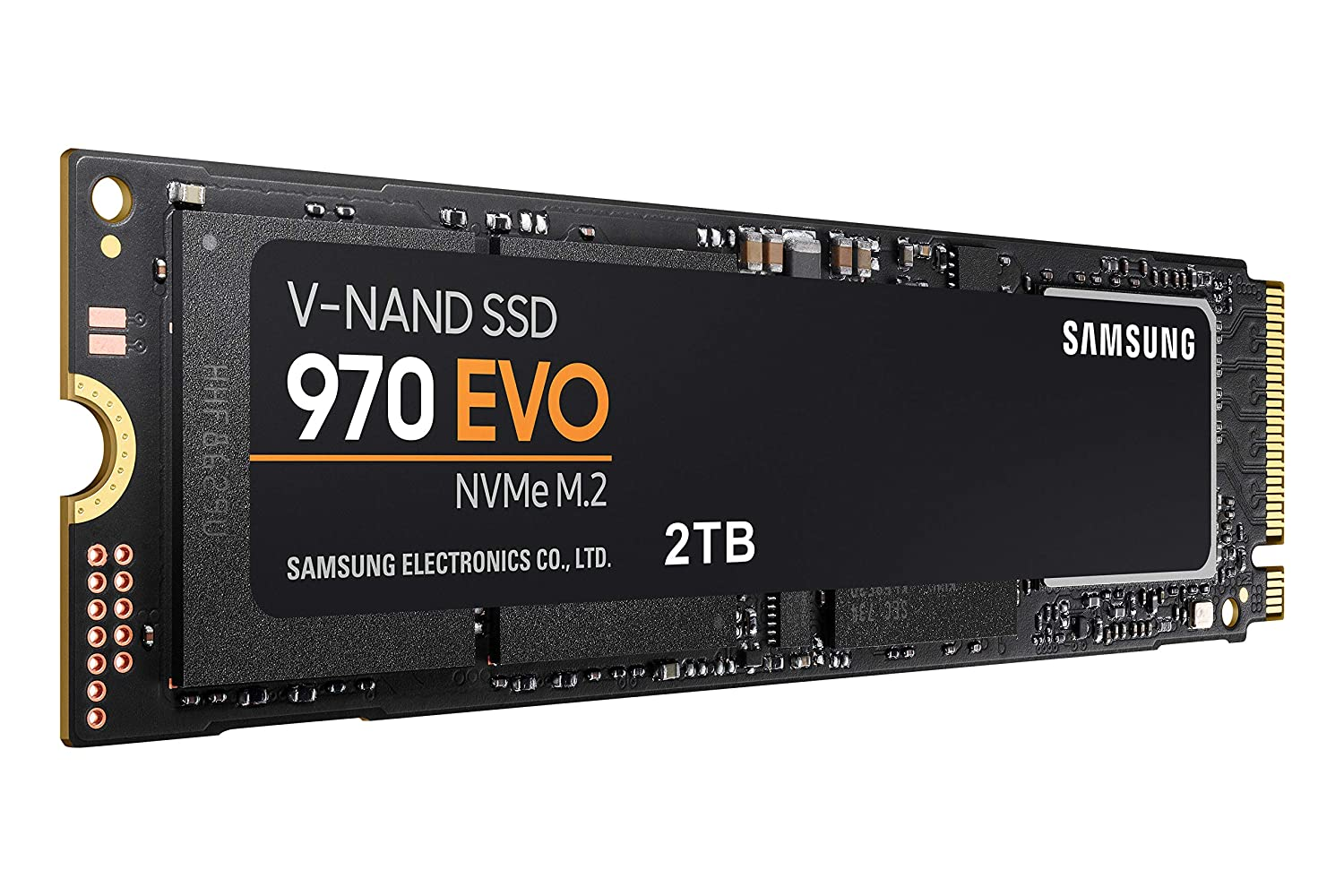Samsung 970 EVO SSD 2TB - M.2 NVMe Interface Internal Solid State Drive with V-NAND Technology (MZ-V7E2T0BW)