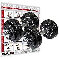 POWRX - Mancuernas Hierro Fundido 30 kg Set