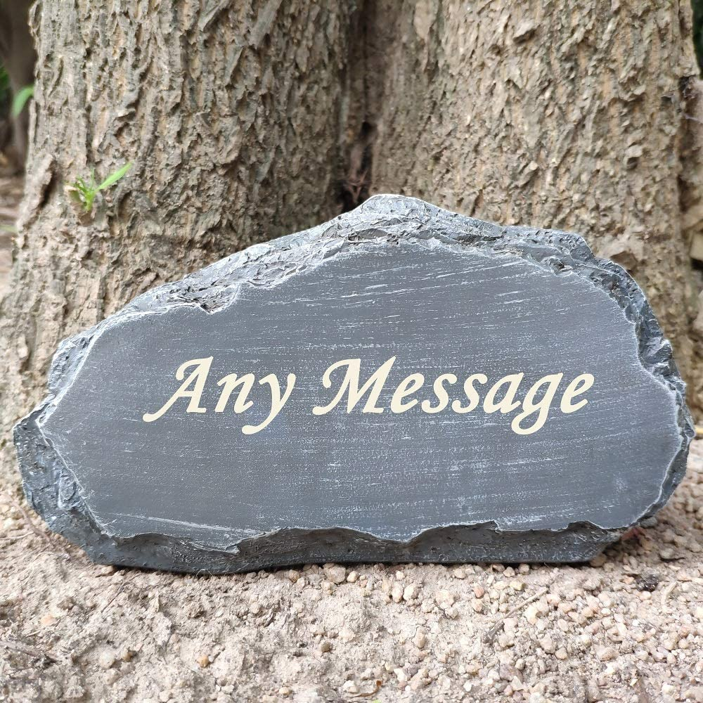 """somiss Personalized Garden Stones Engraved with Any Message, larser Engraved Garden Welcome Stones, Memorial Stones, Outdoor Decorative Stones,8""""X4.5""""X2.5"""""""