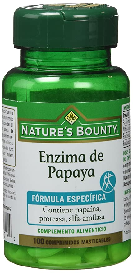 Natures Bounty Enzima de Papaya - 100 Comprimidos: Amazon.es: Salud ...