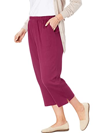 fa3cceb156d Woman Within Women's Plus Size 7-Day Knit Capri