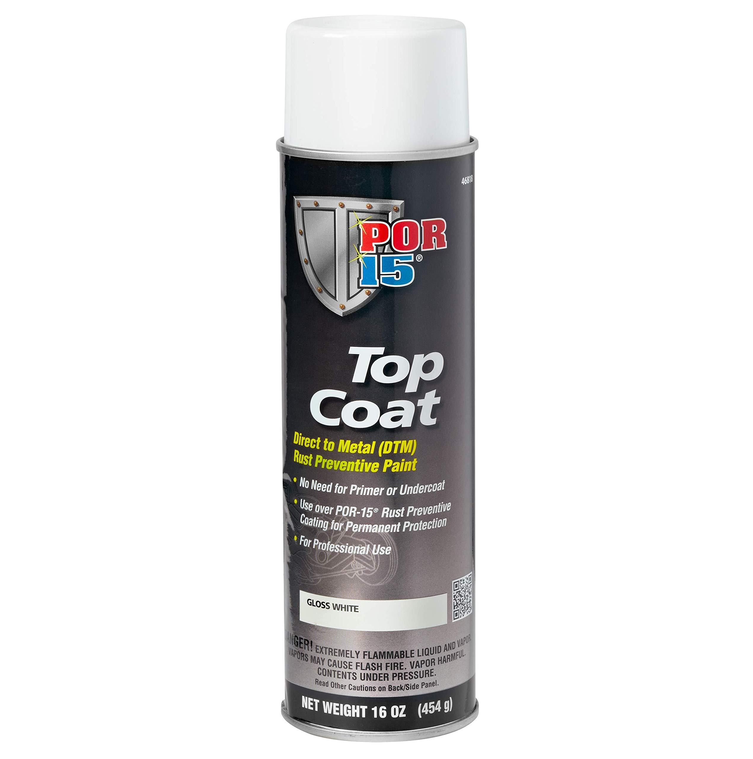 POR-15 46818 Top Coat Gloss White Spray Paint, 16. Fluid_Ounces