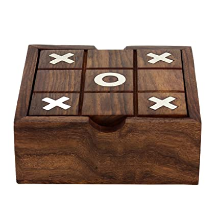 Amazoncom Solitaire And Tic Tac Toe Two In One Game Set Wooden