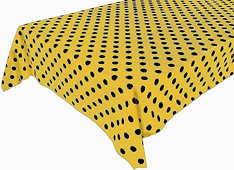 Zen Creative Designs Premium Cotton Table Top Runner Polka Dot White Navy