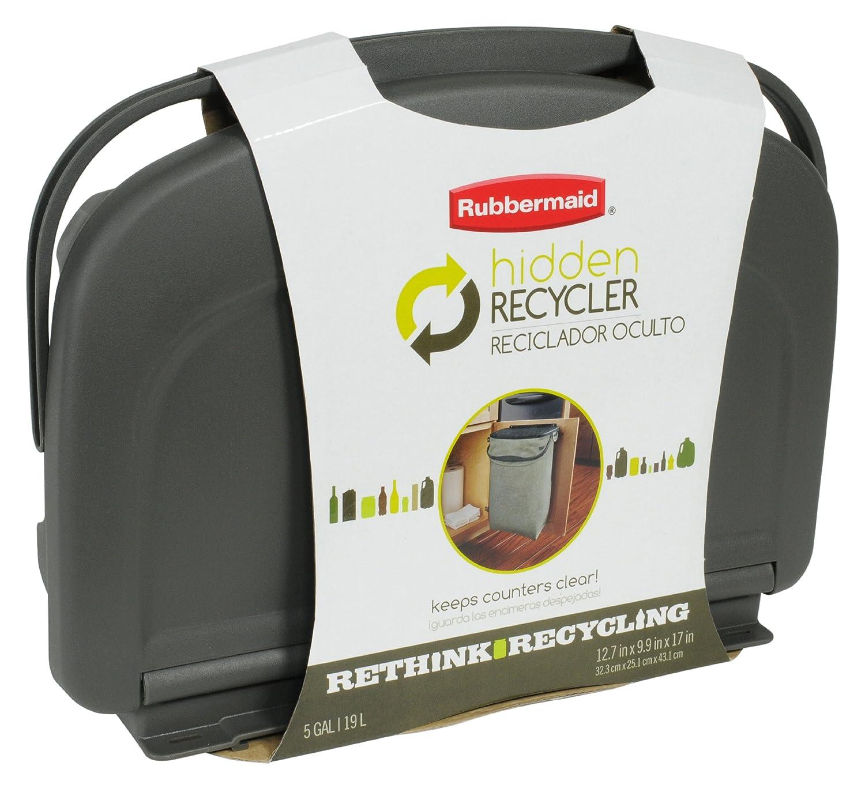rubbermaid hidden recycler home kitchen