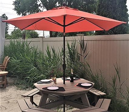 treasure garden 9 ft push button tilt umbrella model 920 tangerine - Treasure Garden Umbrella