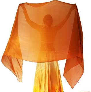 64403b0d8 Solid Silk Veil (Silk Belly Dance Veil for Bellydance in Orange) at ...