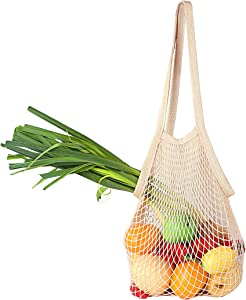 Plus-Size Bailuoni Net String Shopping Bag Long Handle Portable/Washable/Reusable Net Shopping Tote String Bag Organizer for Grocery Shopping, Beach, Toys, Storage, Fruit, Vegetable and Market