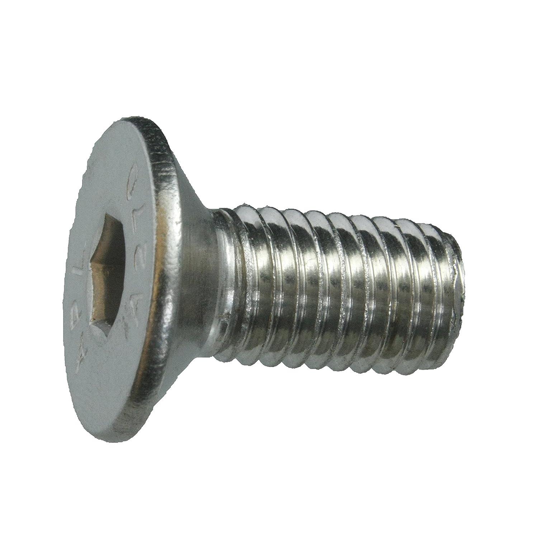 50 Senkkopfschrauben Edelstahl M10 x 30 mm – ISO 10642 / DIN 7991 – Senkschrauben mit Innensechskant und Vollgewinde – Werkstoff A2 (VA / V2A) schrauben-niro.de ®