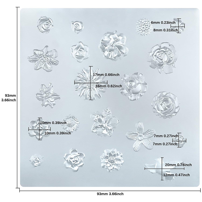 musykrafties Molde de silicona epoxi de resina de pequeñas flores: Amazon.es: Hogar