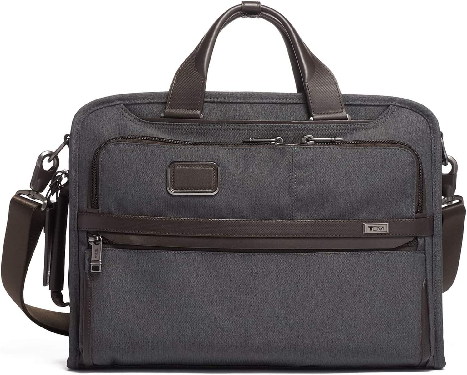 TUMI - Alpha 3 Slim Three Way Laptop Brief Briefcase - 15 Inch Computer Bag for Men and Women - Anthracite