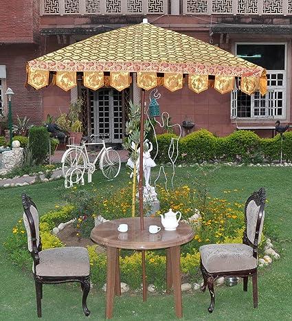 Lalhaveli Brown Color Garden Decor Outdoor Square Umbrella Large 64 X 60 Inches