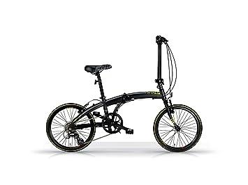 Bicicleta Plegable MBM Snap 20 Pulgadas Shimano Altus 7 Velocidad Negro