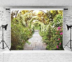 Kate 10x10ft Spring Garden Photography Backdrop Wedding Portrait Backdrop Flower Path Photo Background