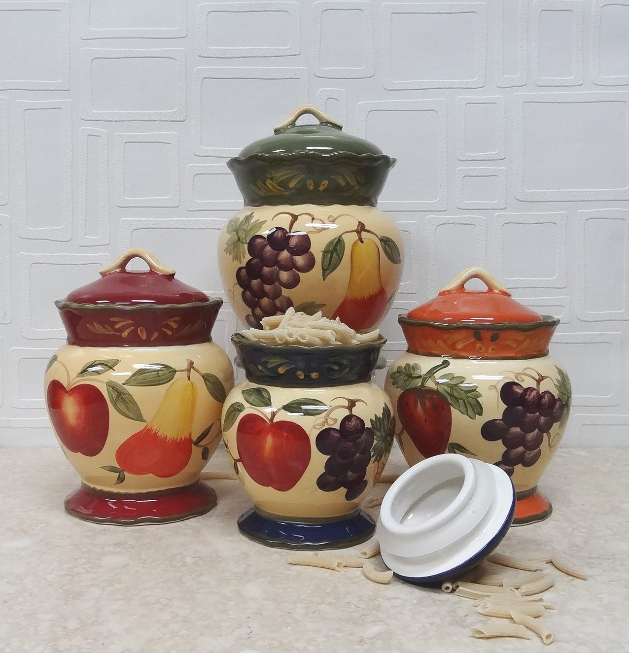 amazon com tuscany garden colorful hand painted mixed fruit