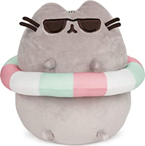 GUND Pusheen in Striped Tube and Sunglasses Plush Stuffed Animal Cat, 9.5
