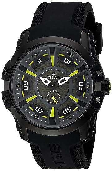 b999c42c826 Buy Titan HTSE 3 Analog Black Dial men s Watch - 1630NP02 Online at Low  Prices in India - Amazon.in