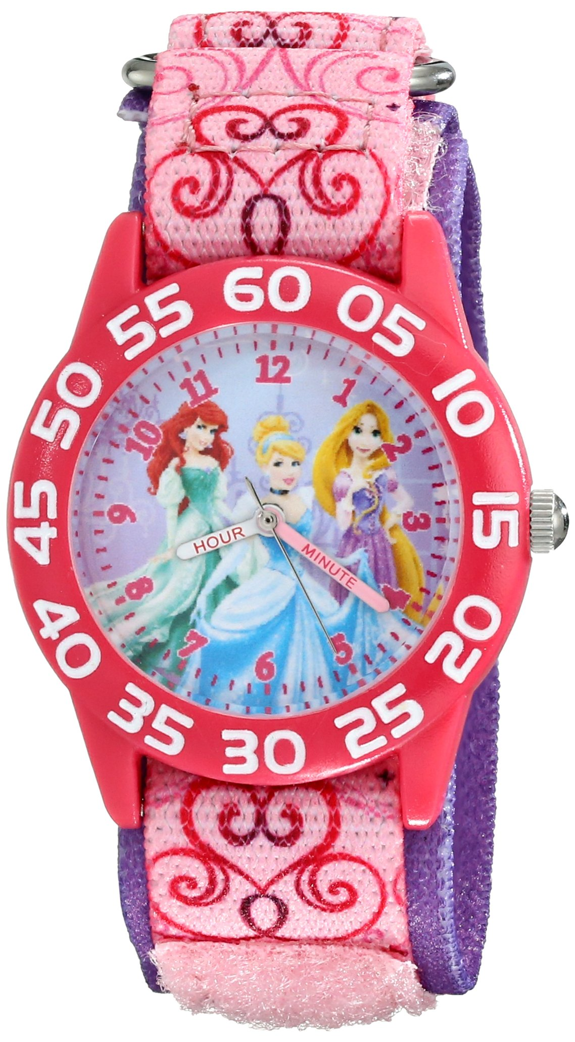 Disney Kids' W001992 Princess Analog Display Analog Quartz Pink Watch by Disney