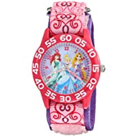 Kids' W001992 Princess Analog Display Analog Quartz Pink Watch