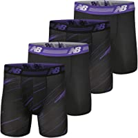 """New Balance Men's Ultra Soft Performance 6"""" Boxer Briefs with No Fly (4-Pack of Underwear)"""