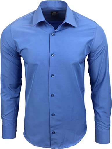 Subliminal Mode RN55 - Camisa para hombre de manga larga, corte Slim Business: Amazon.es: Ropa y accesorios