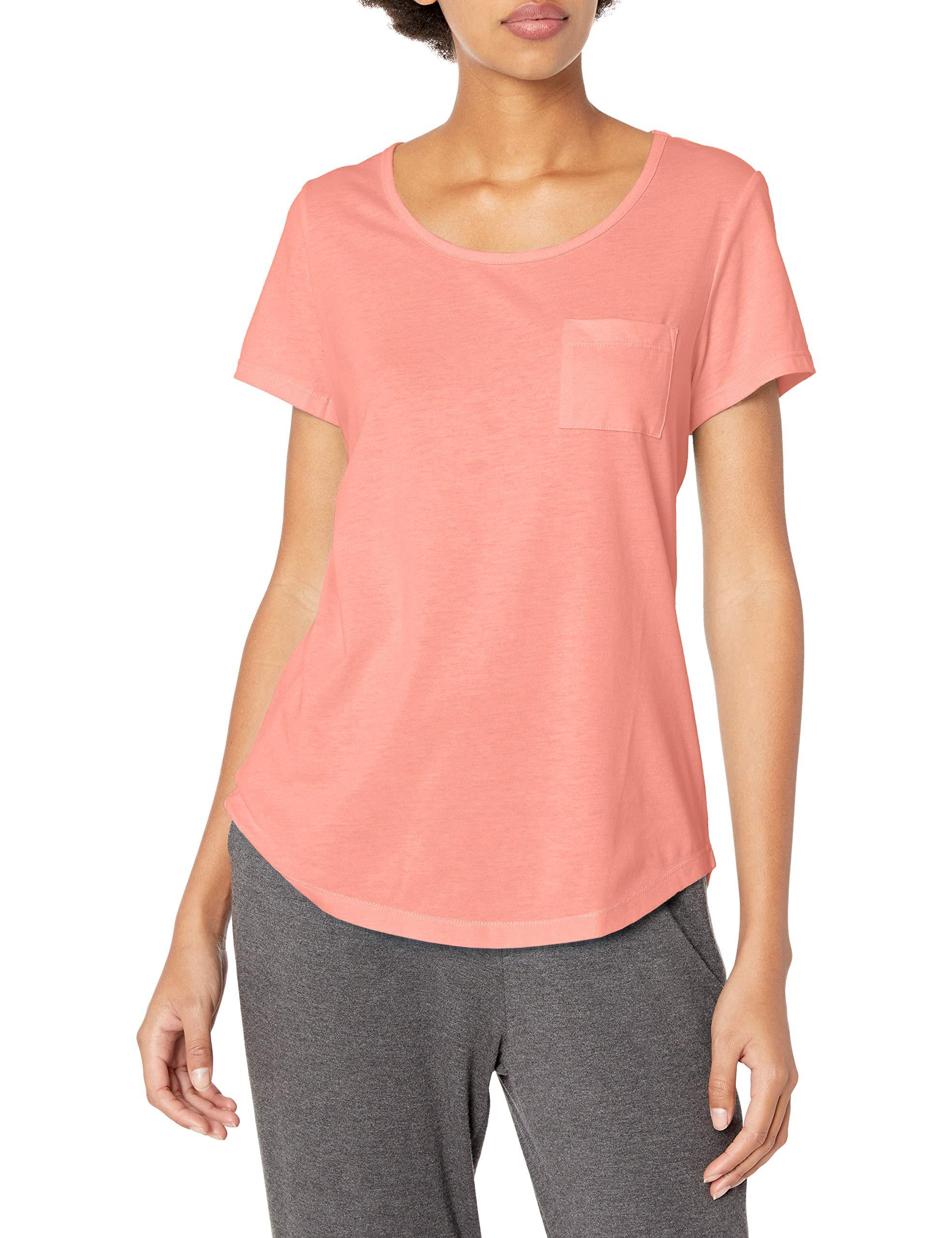 Jockey Women's Cotton Jersey Tee, Peach Glow, L