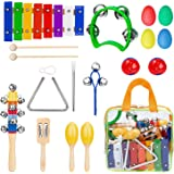INNOCHEER Musical Instruments Xylophone Set for Kids, ASTM Certified, FDA Approved, Toddler Wooden Percussion Toy