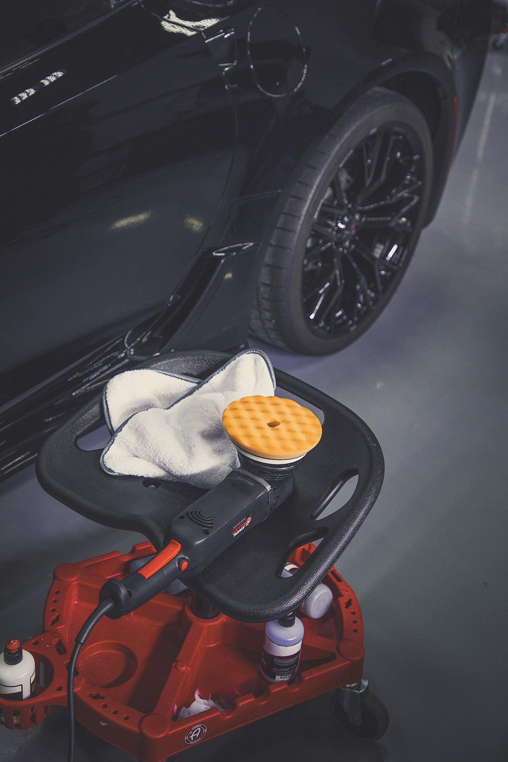 Adam's ProStool Detailing Creeper - Ergonomically Designed for Comfort and Functionality - Adjustable Height and Heavy Duty Rolling Wheels - Comfortably Detail or Paint Correct Any Vehicle by Adam's Polishes (Image #5)