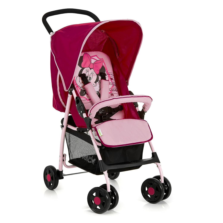 Hauck Sport - Silla de paseo ligera y practica para bebes de 0 meses hasta 6.2 kg, sistema de arnés de 5 puntos, respaldo reclinable, plegable, color negro y rojo 171226
