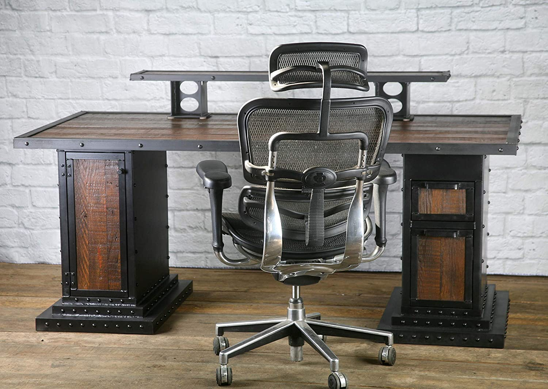 Amazon.com: Modern Industrial Computer Desk, Reclaimed Wood Desk