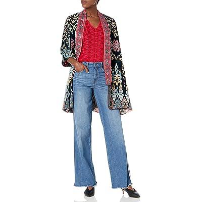 Johnny Was Women's Velvet Printed Reversible Kimono at Amazon Women's Clothing store