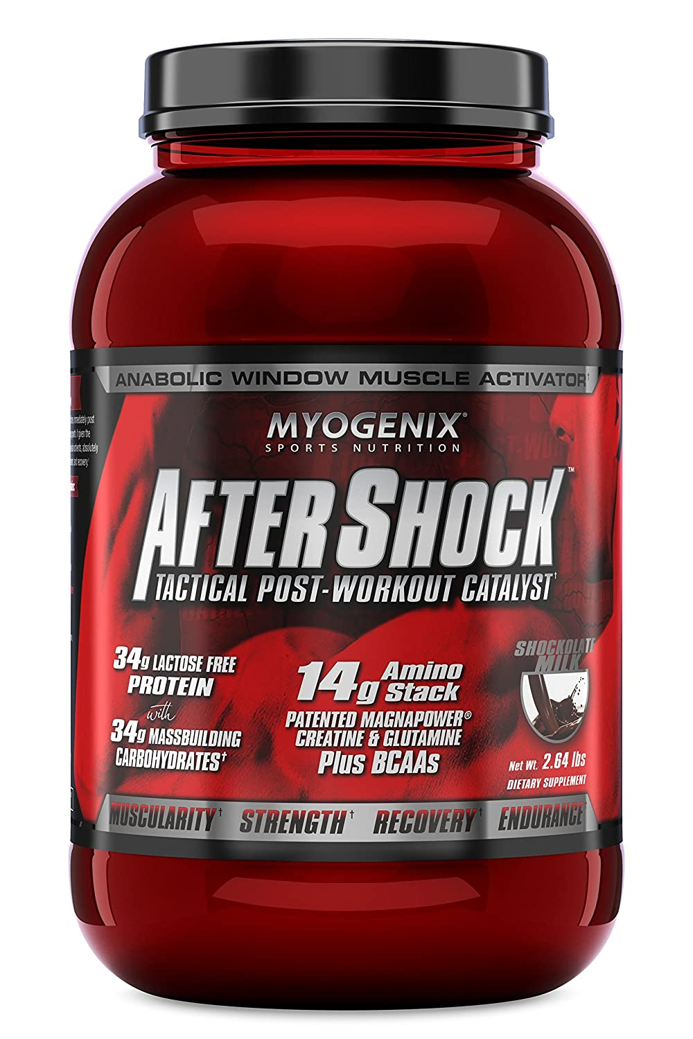 Myogenix Aftershock Shockolate Milk Protein Powder, 2.64 Pound