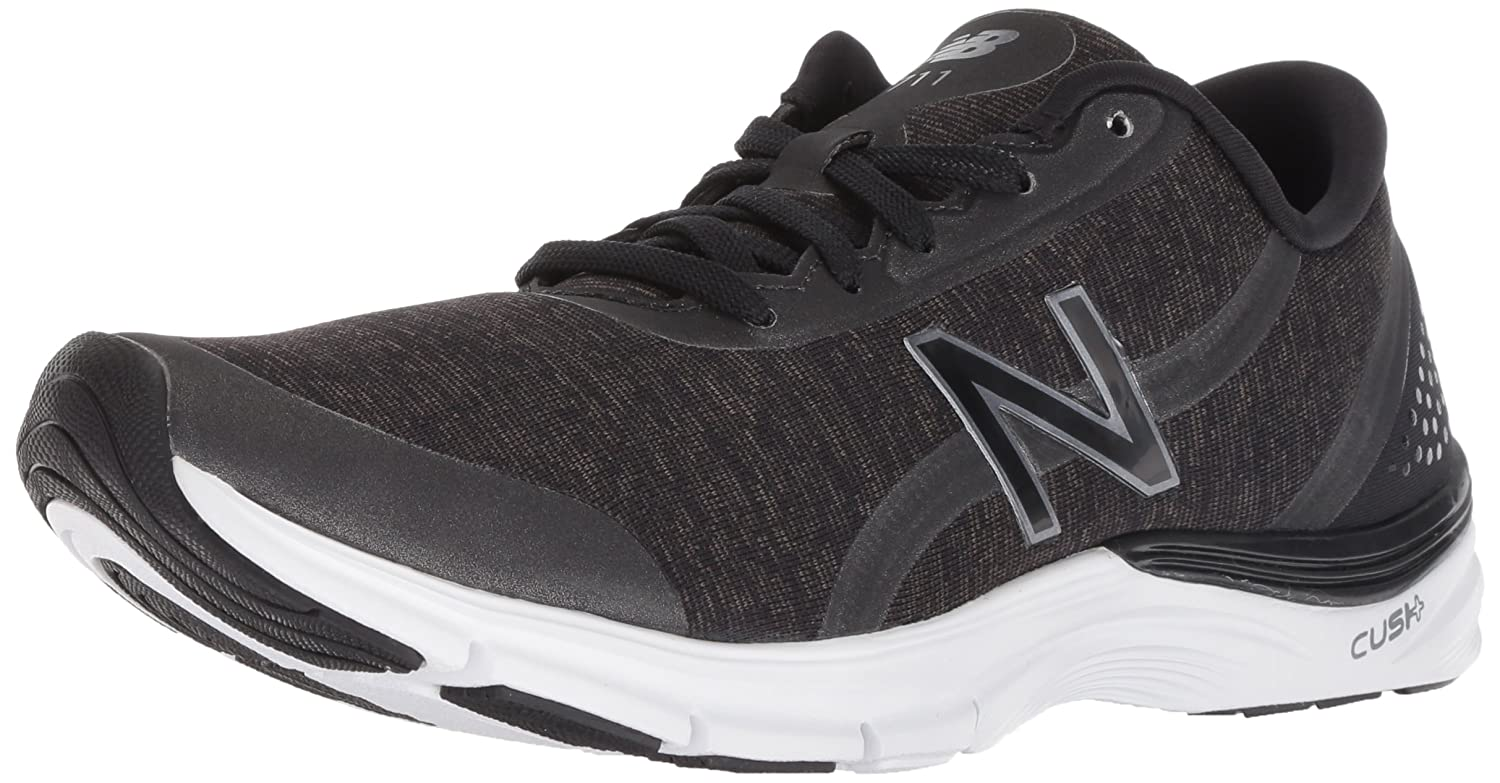 New Balance Women's 711v3 Cush + Cross Trainer B075R7QGVV 8.5 B(M) US|Black