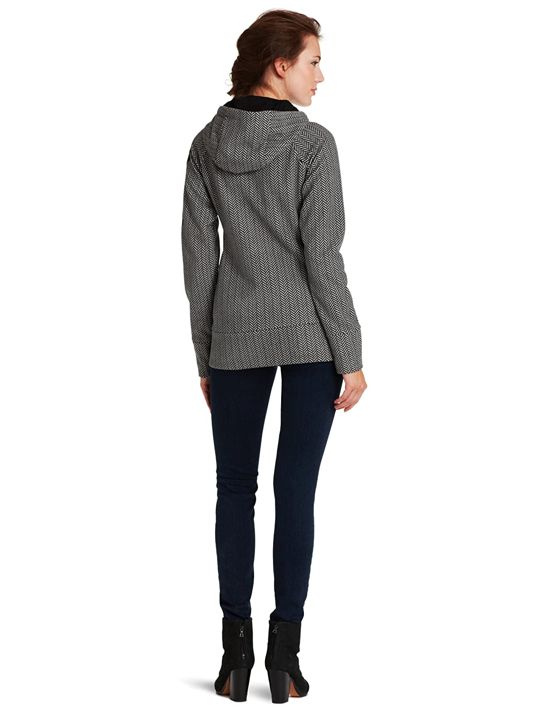 Bench Women's Slinker Hooded Jacket, BlackGray, Medium at