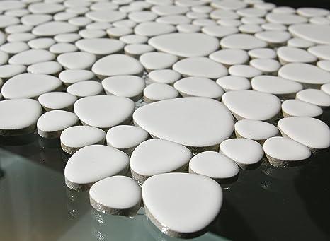 In ceramica e piastrelle a mosaico di colore grigio bianco lucido