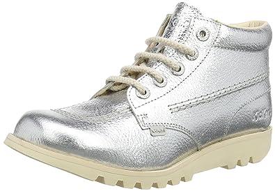 Kickers Damen Kick Hi C Kurzschaft Stiefel, Silber (Metallic), 36 EU