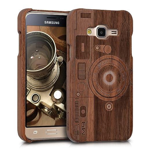 3 opinioni per kwmobile Custodia in legno per Samsung Galaxy J3 (2016) DUOS Cover legno