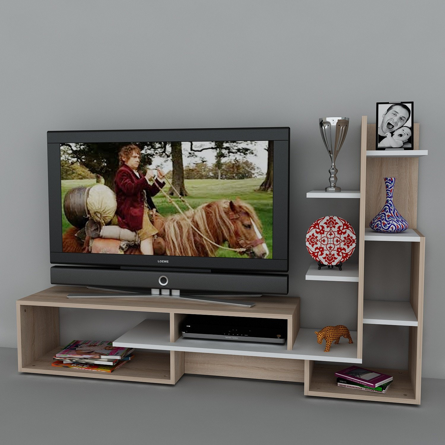 Asir Group Llc 731wat3024 Wooden Art Meuble Tv Amazon Fr Cuisine  # Wooden Art Meuble Tv