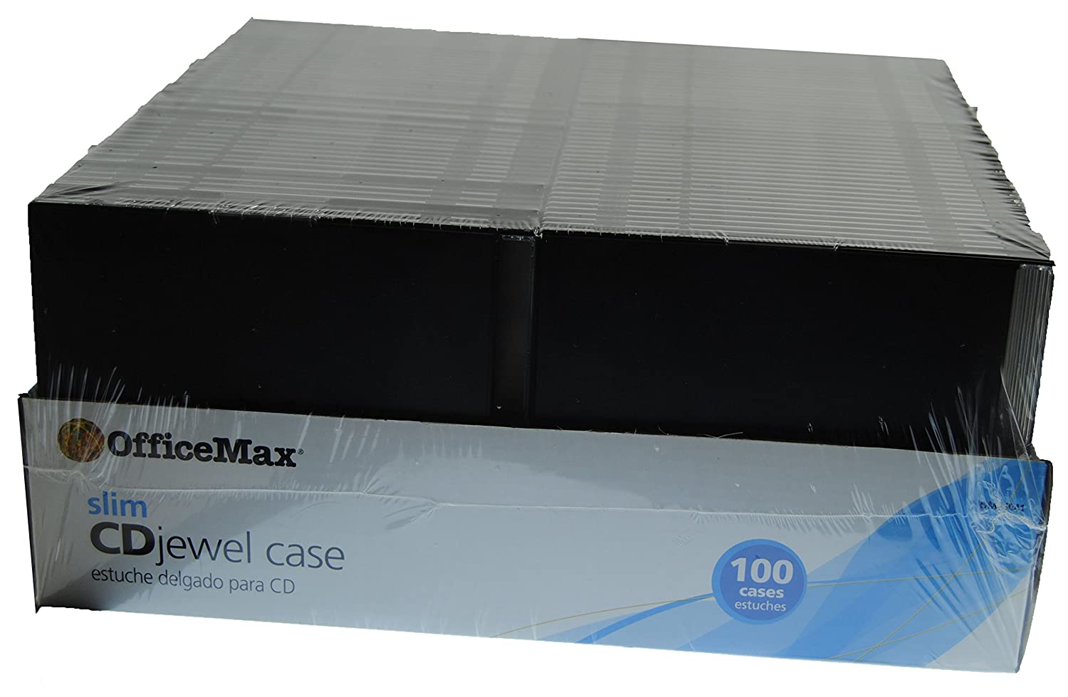 Amazon.com: OfficeMax 100-Pack Slimline CD/DVD Jewel Cases ...