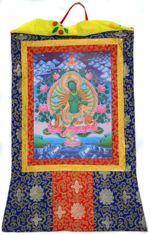 Amazon.de: Thangka Grüne Tara oder Green Tara Kunstdruck im ...