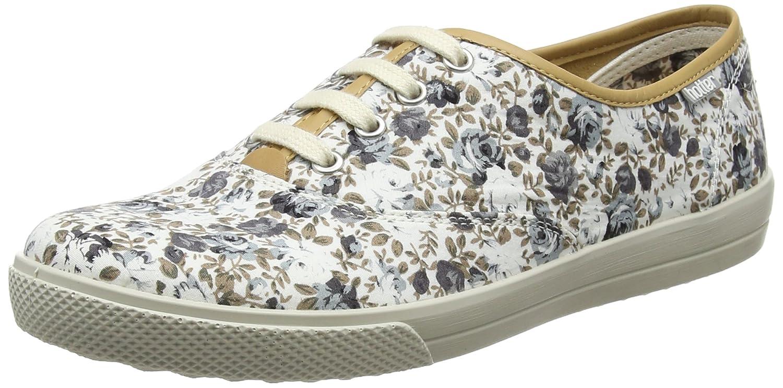 Hotter Mabel EXF, Zapatos de Cordones Oxford para Mujer 41 EU Gris (Grey Floral 111)