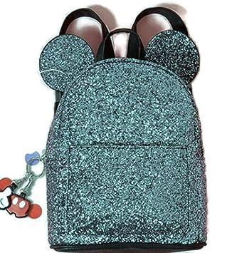 Primark - Bolsa escolar Negro Black - Glitter 29 x 21 x 9 cm: Amazon.es: Equipaje